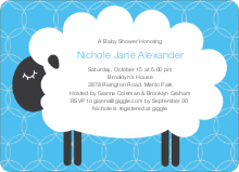 Sheep Baby Shower Invites - Light Blue