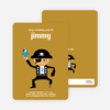 Shiver Me Timbers Pirate Birthday Invitation - Ginger
