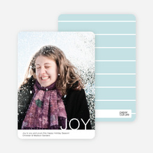 Simple Joy Holiday Photo Cards - Black