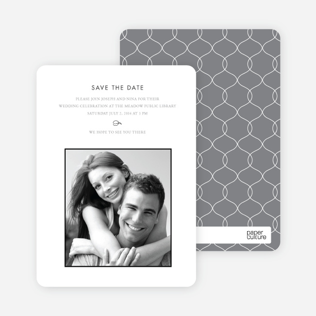 Simply Classic Save the Date Photo Cards - Black