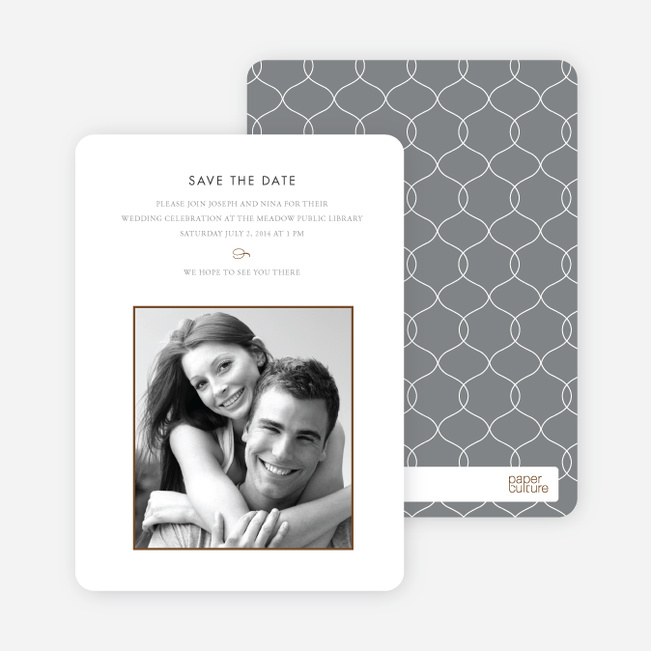 Simply Classic Save the Date Photo Cards - Mocha
