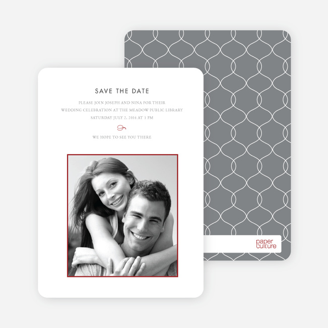 Simply Classic Save the Date Photo Cards - Burgundy