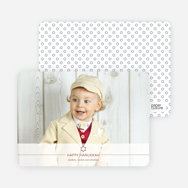 Simply Hanukkah Cards - Red