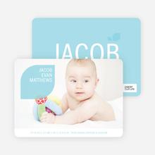 Simply Photos: Leaf Modern Baby Announcement - Light Green