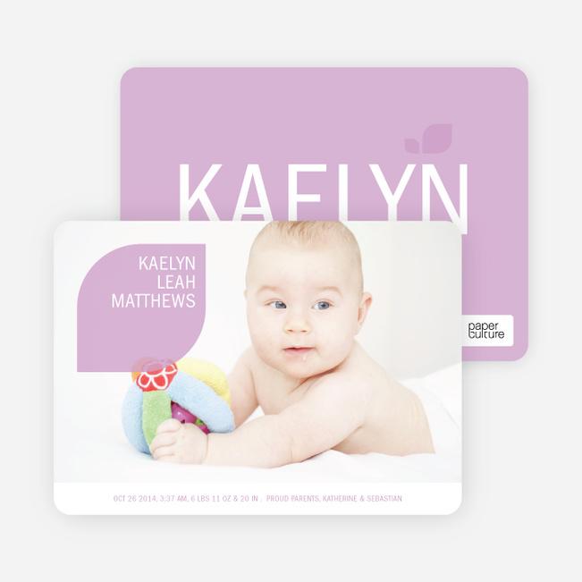Simply Photos: Leaf Modern Baby Announcement - Light Mustard