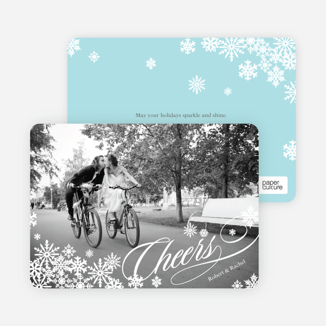 Holiday Cards: Snowflake Cheer - White