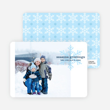 Snowflake Greetings Holiday Photo Cards - Blueberry