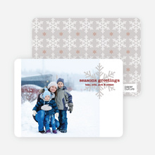 Snowflake Greetings Holiday Photo Cards - Sangria