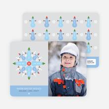 Snowman Snowflake - Baby Blue