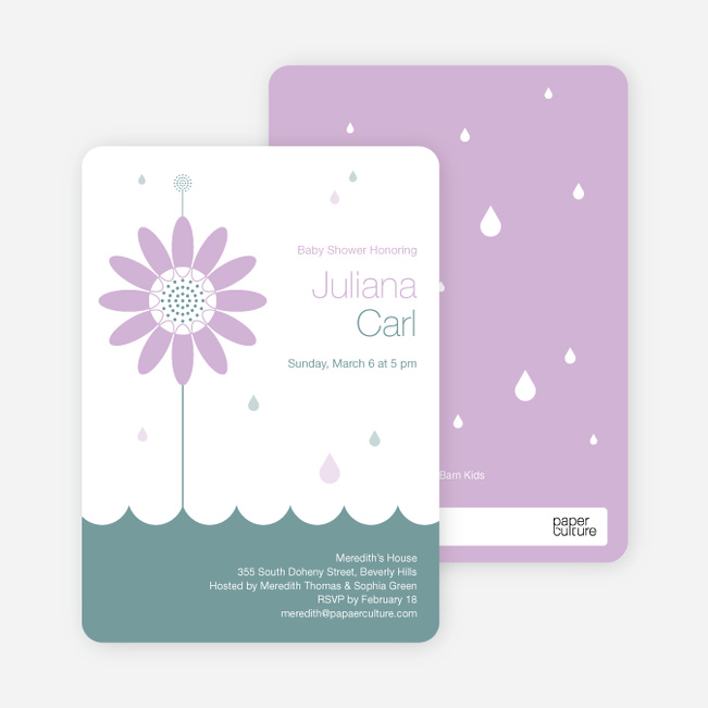 Spring Shower Bring May Flowers Baby Shower Invitations - Wisteria