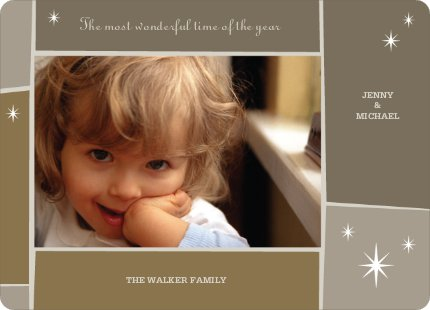 Star Light, Star Bright Holiday Photo Cards - Ginger