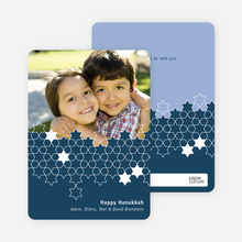 Star of David Unity Hanukkah Cards - Indigo