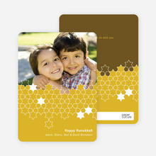 Star of David Unity Hanukkah Cards - Mustard