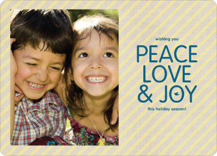 Stripes of Peace, Love & Joy - Buttercup