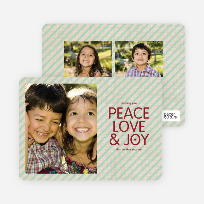 Stripes of Peace, Love & Joy - Mint