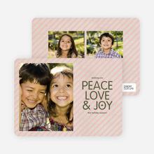 Stripes of Peace, Love & Joy - Blush