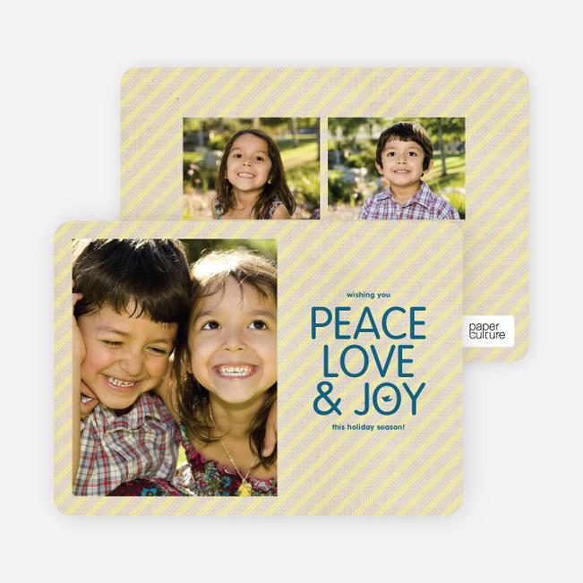 Stripes of Peace, Love & Joy - Buttercup