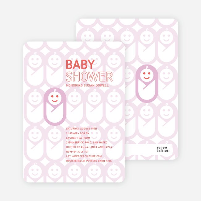 Swaddle Me This Baby Shower Invitations - Lavender