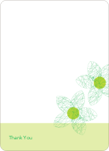 Spirograph Flower Bridal Shower Invitations: Thank You Cards - Asparagus
