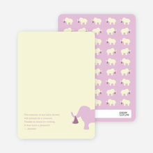 Ellie the Elephant: Thank You Cards - Lavender