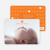 Photo Birth Announcements Prints: Tiny Teddy Bear - Orange