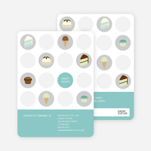 Tooth Decay Party Invitations: Ice Cream, Cupcakes and Cake - Teal