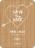 Tree Carving Save the Date Cards - Hardwood