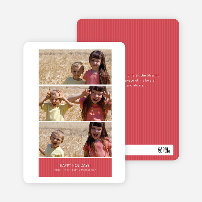 Multi Photo Holiday Cards: Triple the Fun - Cherry
