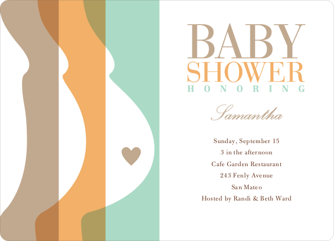 Tummy Love Baby Shower Invitations - Coco Cub