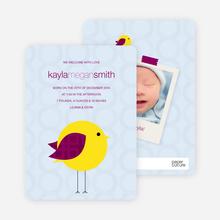 Tweetie Birth Modern Baby Announcement - Light Blue