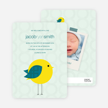 Tweetie Birth Modern Baby Announcement - Light Green