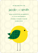 Tweet Tweet Baby Announcement - Light Yellow