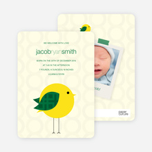 Modern Baby Announcements: Tweetie Birth - Light Yellow