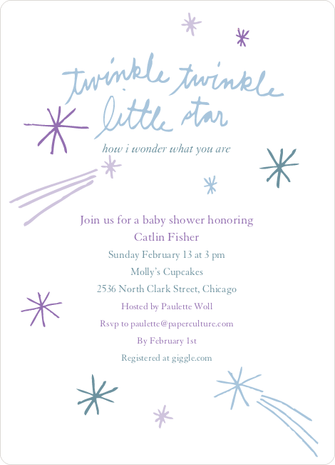 twinkle little star baby shower invitations paper culture
