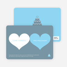 Two Hearts Save the Date Cards - Sky Blue