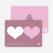 Two Hearts Save the Date Cards - Cotton Candy