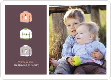 Ugly Sweaters Holiday Photo Cards - Apricot