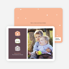 Ugly Sweater Christmas Cards - Apricot