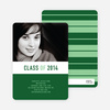 Unique Modern Graduation Announcements and Invitations - Olive