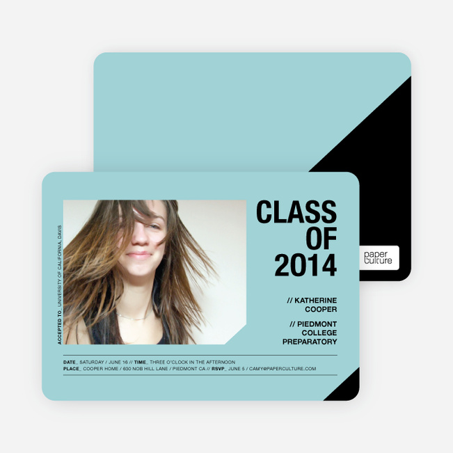 Unique Photo Graduation Announcements - Aquamarine