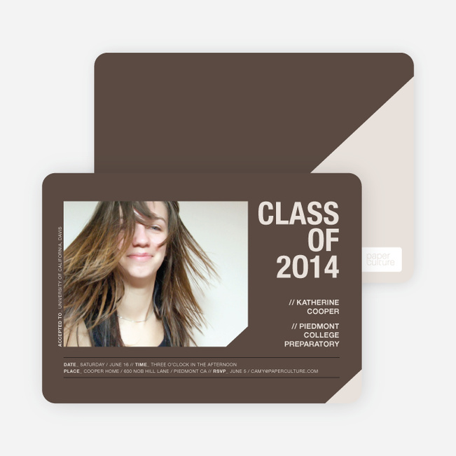 Unique Photo Graduation Announcements - Espresso