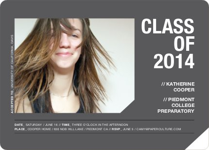 Unique Photo Graduation Announcements - Charcoal
