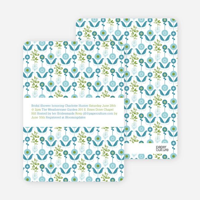 Wallpaper Blooms Bridal Shower Invitations - Spring Air
