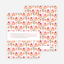 Wallpaper Blooms Bridal Shower Invitations - Strawberry Rum Cake
