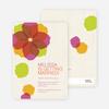 Watercolor Petals Bridal Shower Invitations - Pink Bride