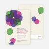Watercolor Petals Bridal Shower Invitations - Violet Bell