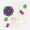 Watercolor Petals Bridal Shower Invitations - Violet Bell