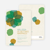 Watercolor Petals Bridal Shower Invitations - Green Tide