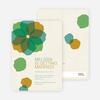 Watercolor Petals Bridal Shower Invitations - Green Tide