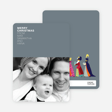 We Three Kings Holiday Wishes - Slate Grey